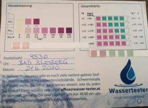Wasserwerte in Bad Bleiberg