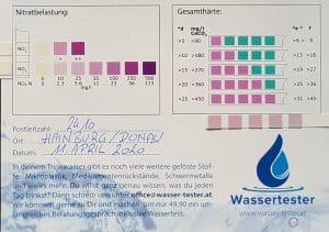 Wasserwerte in Hainburg/Donau