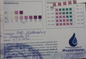 Wasserwerte in 3400 Klosterneuburg, Donaustraße
