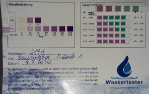 Wasserwerte in 2191 Gaweinsthal