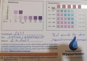 Wasserwerte in 2631 Sieding / Gadenweith